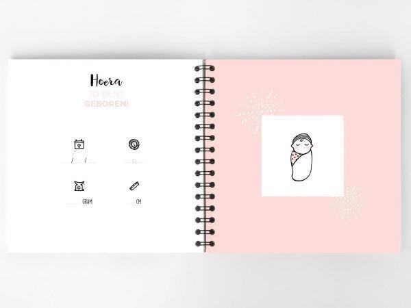 Atelier Pix - Hallo baby - Eerste jaar boek - Roze - 2 - invulboekjes.nl