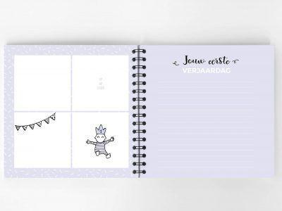 Atelier Pix - Hallo baby - Eerste jaar boek - Roze - 7 - invulboekjes.nl