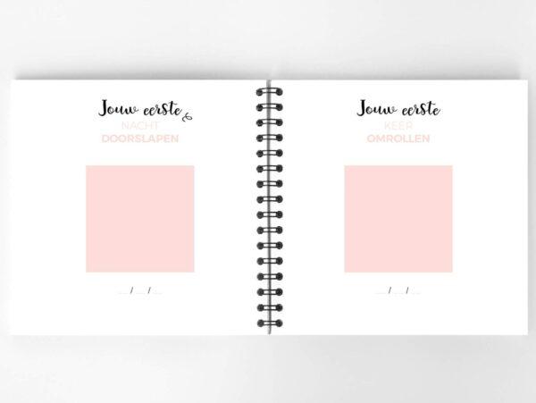 Atelier Pix - Hallo baby - Eerste jaar boek - Roze - 8 - invulboekjes.nl