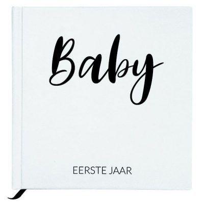 Baby Bunny - Baby eerste jaar boek - White - invulboekjes.nl