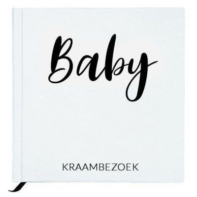 Baby Bunny - Baby kraambezoekboek - White - invulboekjes.nl
