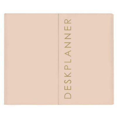 HOP Deskplanner - Light Pink H06.005 - voorkant - invulboekjes.nl