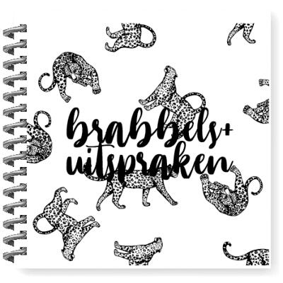 KIDOOZ Brabbels en uitsprakenboekje - Panter - voorkant - invulboekjes.nl
