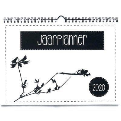 Lettertijd Familieplanner 2020 - A4 - voorkant - invulboekjes.nl