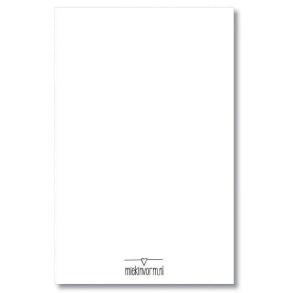 MIEKinvorm Cadeaulabels - Hallo baby - Panterprint - achterkant - invulboekjes.nl