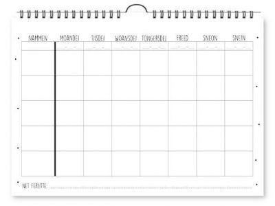 Krúskes Wa, Wat en Wannear Planner – Familieplanner Familie kalender