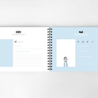 Atelier Pix - Mijn schoolfotoboek - Mint - binnenkant 6 - invulboekjes.nl