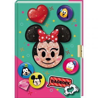Disney Emoji Minnie dagboek met slotje - invulboekjes.nl
