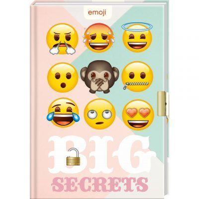 Emoji dagboek met slotje - Big secret - invulboekjes.nl