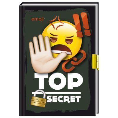 Emoji dagboek met slotje - Top secret - invulboekjes.nl