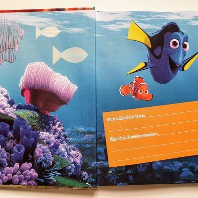 Finding Dory Vriendenboekje Vriendenboekje