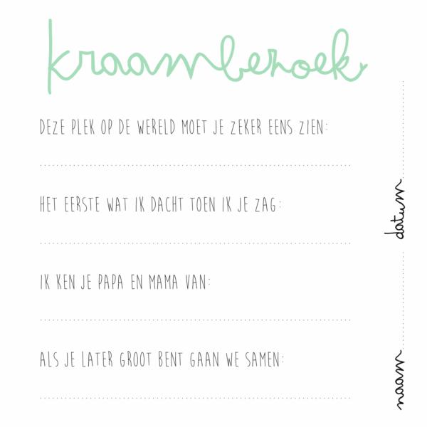 KIDOOZ Kraambezoekboek – Mint Boeken in de aanbieding