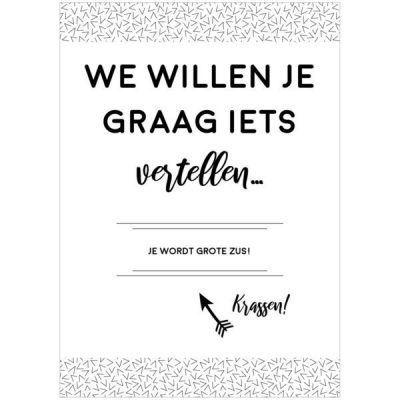 Nine Gifts - Kraskaart - Je wordt grote zus! - invulboekjes.nl