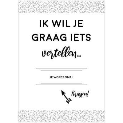 Nine Gifts - Kraskaart - Je wordt oma! - invulboekjes.nl