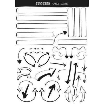 Oh My Goody - Stickervel Labels & arrows - invulboekjes.nl