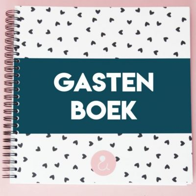 Studio Ins & Outs 'Gastenboek bruiloft' - Donkerblauw - invulboekjes.nl