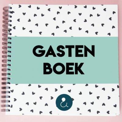 Studio Ins & Outs 'Gastenboek bruiloft' - Mint - invulboekjes.nl