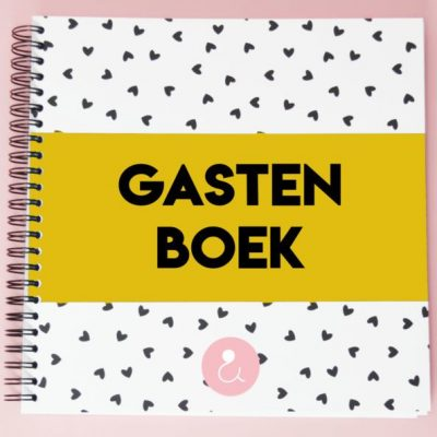 Studio Ins & Outs 'Gastenboek bruiloft' - Okergeel - invulboekjes.nl