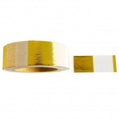 Studio Stationery Washi tape 'Goldfoil white' - invulboekjes.nl