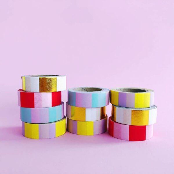 Studio Stationery Washi tape 'Mint pink' 2 - invulboekjes.nl