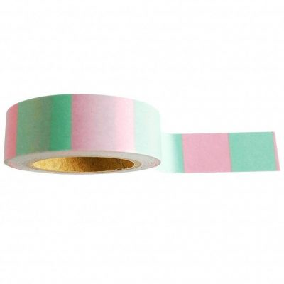 Studio Stationery Washi tape 'Mint pink' - invulboekjes.nl