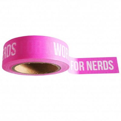 Studio Stationery Washi tape 'Words are for nerds' - invulboekjes.nl