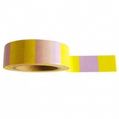Studio Stationery Washi tape 'Yellow lilac' - invulboekjes.nl
