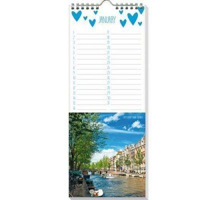 Verjaardagskalender I love amsterdam -binnenkant- invulboekjes.nl