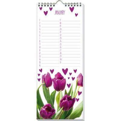 Verjaardagskalender I love tulips -binnenkant- - invulboekjes.nl