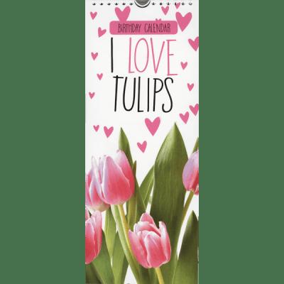 Verjaardagskalender I love tulips - invulboekjes.n