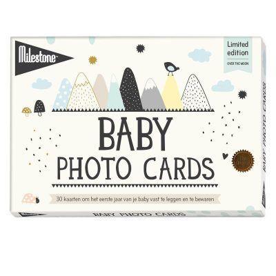 Milestone™ Baby fotokaarten - Over the moon - invulboekjes (1)