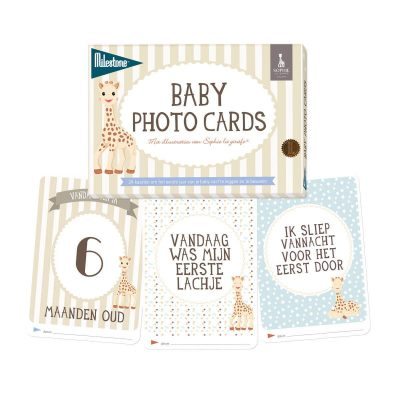 Milestone™ Baby fotokaarten - Sophie la Girafe - invulboekjes (1)