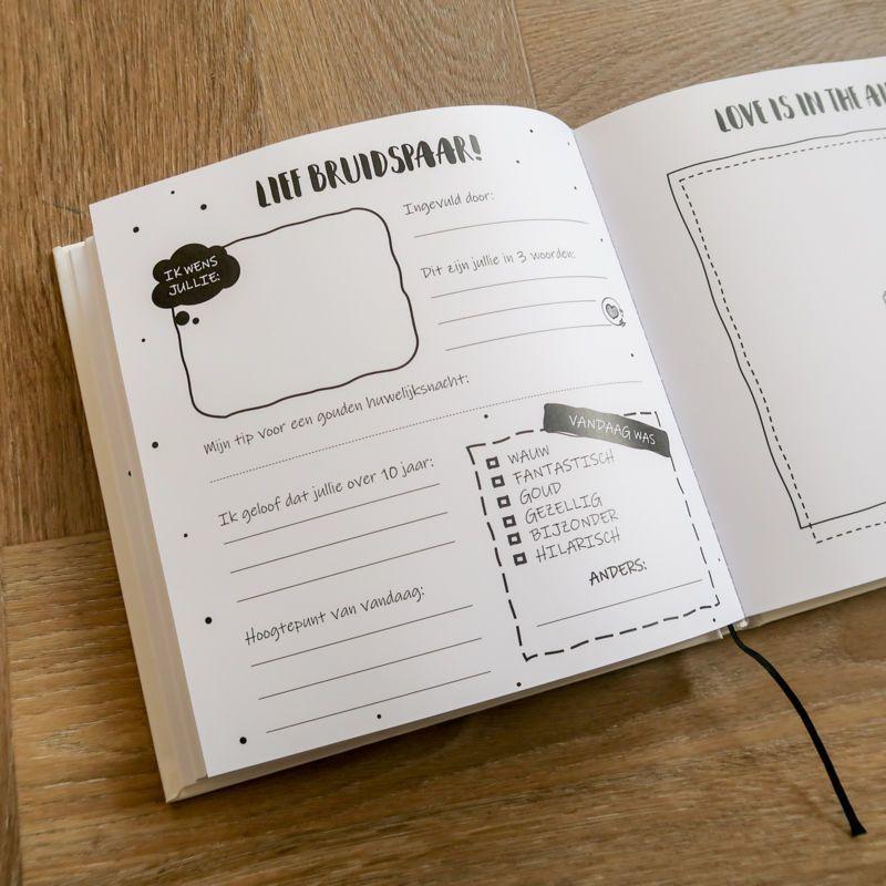 Verrassend SilliBeads - Gastenboek bruiloft - 100 gasten - Hardcover Kopen LE-01