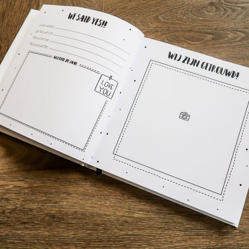 Nieuw SilliBeads - Gastenboek bruiloft - 50 gasten - Hardcover Kopen ER-83