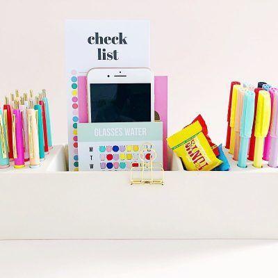 Studio Stationery Desk organizer Pens - Wit - invulboekjes (3)