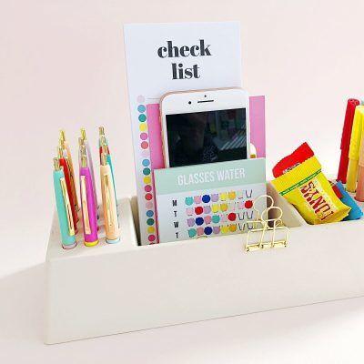 Studio Stationery Desk organizer Pens - Wit - invulboekjes (4)