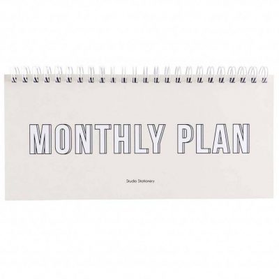 Studio Stationery Notitieboek Monthly plan - invulboekjes (1)
