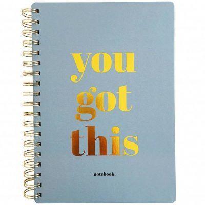 Studio Stationery Notitieboek You got this - Blauw - invulboekjes (1)