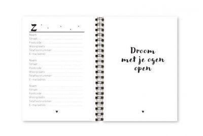 Adresboekje Fyllbooks binnenwerk Adressen Z - Quote