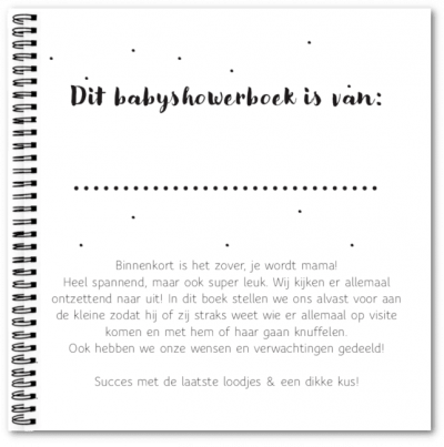 Babyshowerboek Fyllbooks eerste pagina