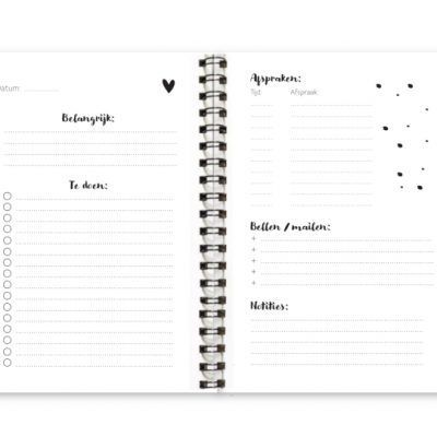 Binnenwerk Werkplanner Fyllbooks