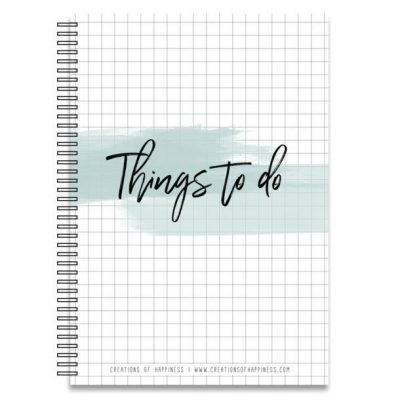Creations of Happiness Notitieboek Things to do - A5 - invulboekjes.nl