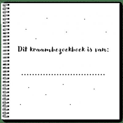 Eerste pagina Kraambezoekboek Fyllbooks