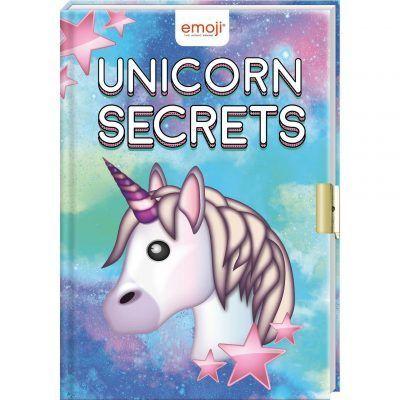 Emoji Unicorn Secrets - Dagboek met slotje - invulboekjes.nl