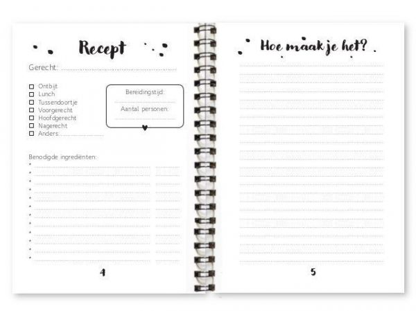 Fyllbooks Receptenboekje Cadeauboeken