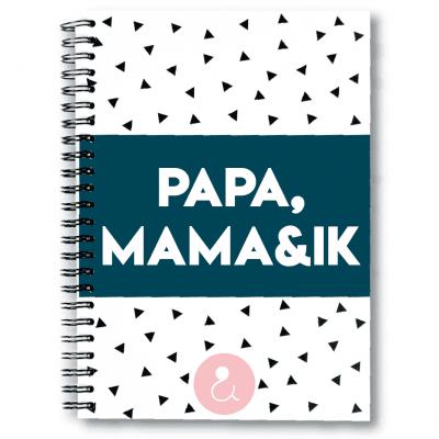 Studio Ins & Outs Invulboek 'Papa, mama & ik' Boek vaderdag