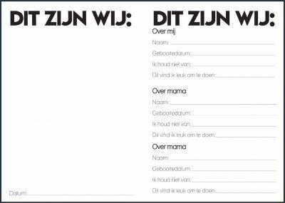 Studio Ins & Outs 'Mama, mama & ik' -1- invulboekjes.nl