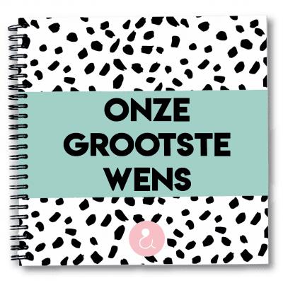 Studio Ins & Outs Zwangerschapswens 'Onze grootste wens' – Mint Kinderwens dagboek