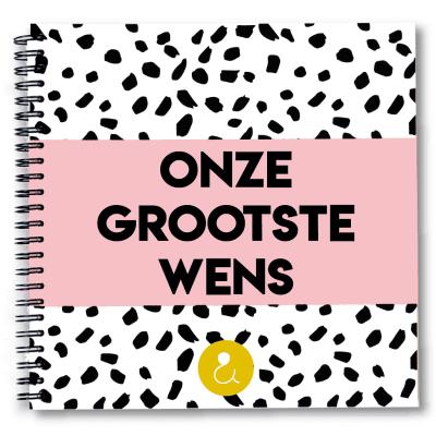Studio Ins & Outs Zwangerschapswens 'Onze grootste wens' – Roze Kinderwens dagboek