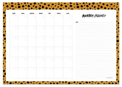 Studio Stationery Notitieblok Monthly planner A3 - invulboekjes.nl